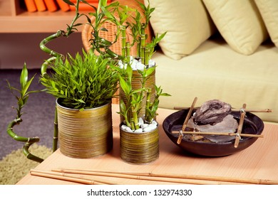 Bamboo, the decoration on the table