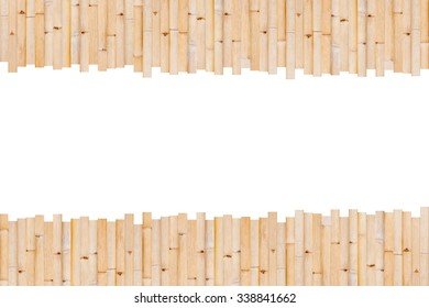 bamboo fence wall texture background.