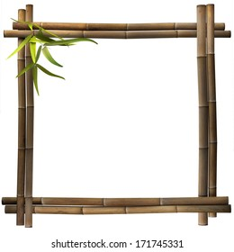 Bamboo frame square