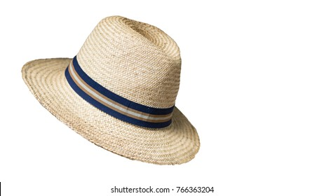 Bamboo hat, white background