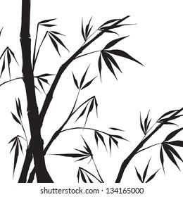 Bamboo isolated illustration. Illustration.