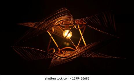 Bamboo lamp photoshot
