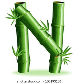 Bamboo Letter Sign N