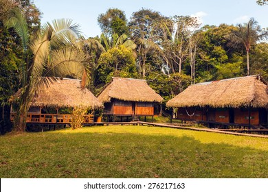 Bamboo Lodge In Cuyabeno Wildlife Reserve, South America