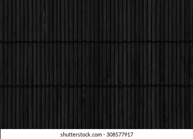 Bamboo Mat Handiwork Stained Charcoal Black, Grunge Texture Sample.