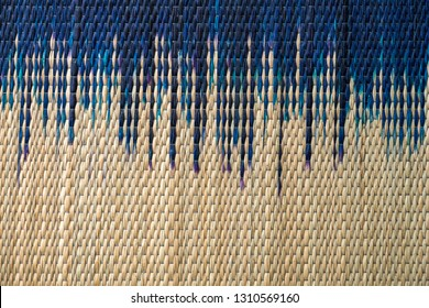 Bamboo mat pattern background seamless and texture