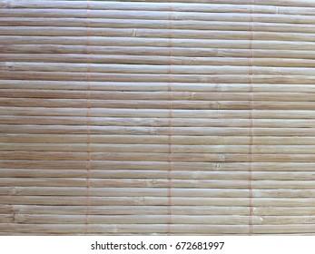 Bamboo mat texture background