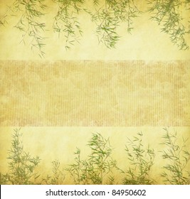bamboo on old antique paper texture