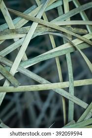 Bamboo peel basket background vintage tone style