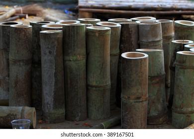 bamboo pile