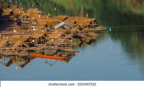 A bamboo raft on the Nan River in nan province