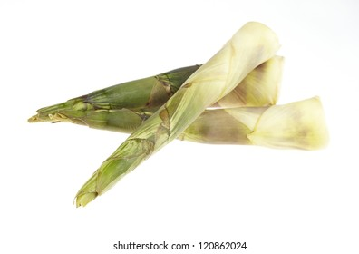 Bamboo shoot on white background
