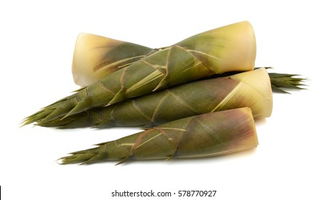 Bamboo shoots isolated on white background