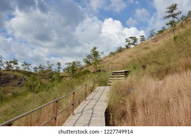 bamboo stairs up to khao Lon mountain Travel location in Thailand