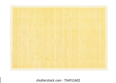 Bamboo Table Placemat on White Background