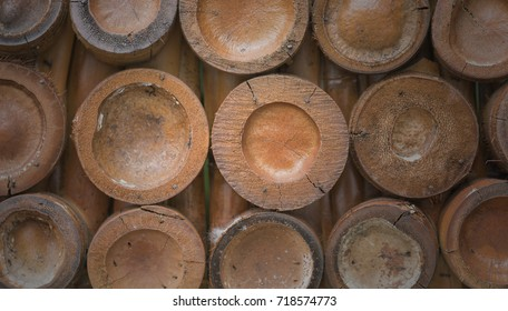 The bamboo texture.