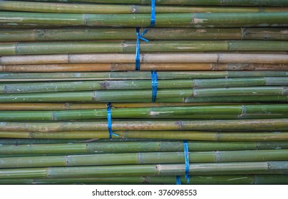 Bamboo tied pile