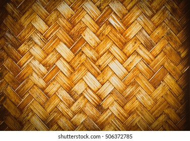 bamboo weave background from handmade crafts basket for design with copy space for text or image