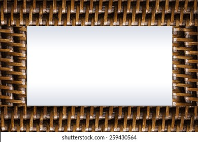 bamboo weave frame for background or texture