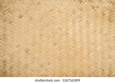 Bamboo weave pattern background, Wall detail