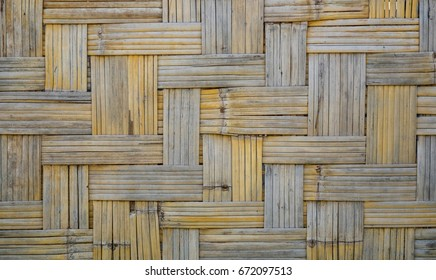Bamboo weave pattern texture for background.Retro Wooden wall.Vintage background.Asian designed