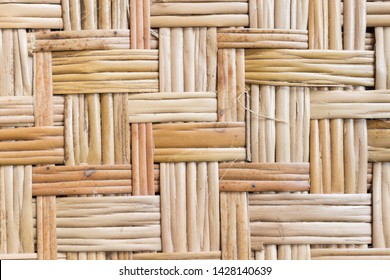 Bamboo Weave Texture or Bamboo Weave Pattern Background . Weave Texture or Weave Pattern in classic retro style for design.