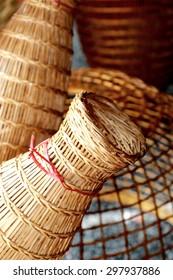 Bamboo wicker fish trap