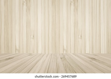 Bamboo wood texture wall and floor background for interiors