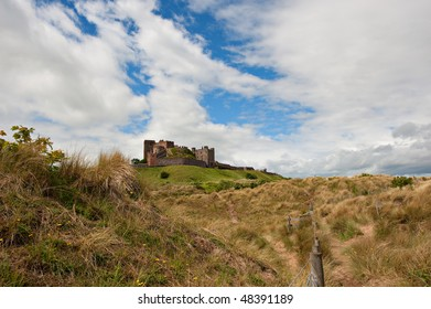 Bamburgh castle on a Summers day