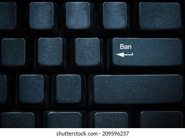 Ban button on computer keyboard