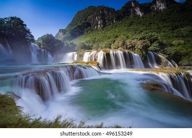 Ban Gioc - Detian waterfall in Vietnam. One of the best waterfalls in northern Vietnam.
