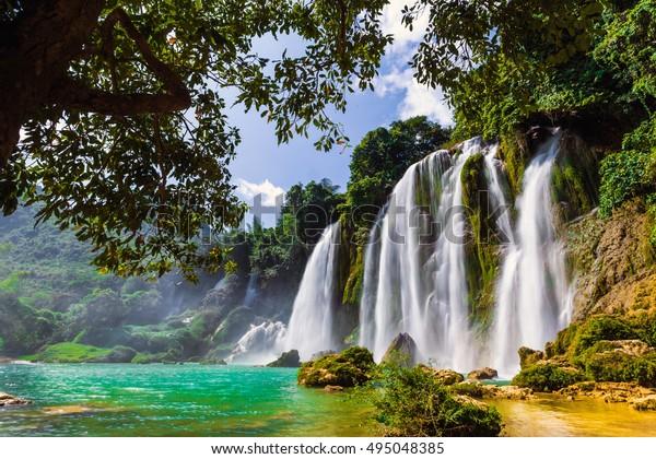 Ban Gioc Waterfall Cao Bang Viet Stock Photo Edit Now 495048385