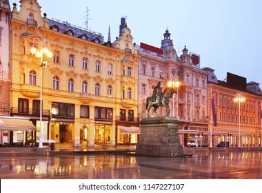 Ban Jelacic square in Zagreb. Croatia