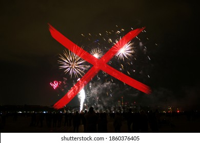 Verbot von Feuerwerkskörpern an Silvesterabend, rotes Kreuz