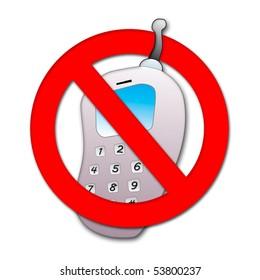Ban on mobile phone