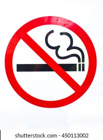 The ban on smoking background.