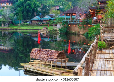 Ban Rak Thai, a Chinese settlement in Mae Hong Son province, Northern Thailand. The village was established, and is still populated by Chinese Kuomintang refugees who escaped the communists in 1949.