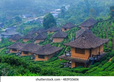 Ban Rak Thai, a Chinese settlement, Mae Hong Son, Thailand.