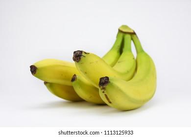 Banana bunch isolated white background