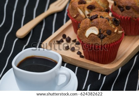banana cake coffee deseart food stock photo edit now 624382622