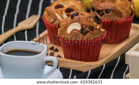banana cake coffee deseart food stock photo edit now 624382631