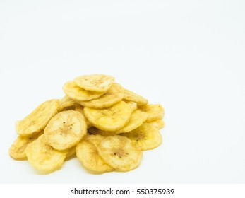 banana chip isolated on white background