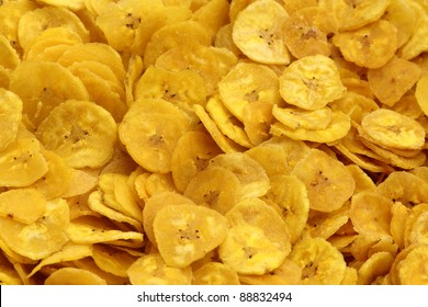 Banana chips  background