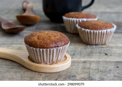 Banana Chocolate Cupcakes or Muffin cake ,Still life food