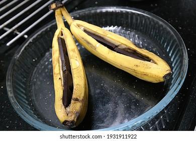 banana chocolate waiting to be baked - Shutterstock ID 1931911922