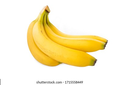 Banana, cross angle banana on white background (Tr- Muz) - Shutterstock ID 1715558449