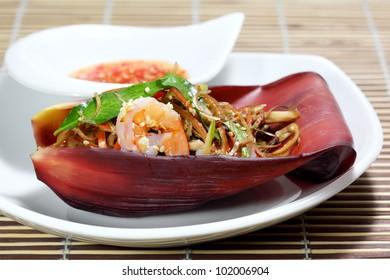 Banana flower salad Vietnamese  cuisine