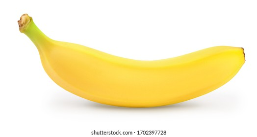 banana isolated on white background with clipping path and full depth of field.