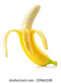banana isolated on the white background