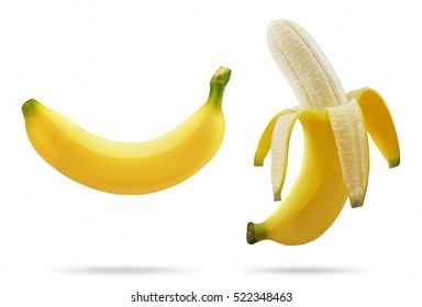 8010bb014f9d0 Banana isolated on white background.